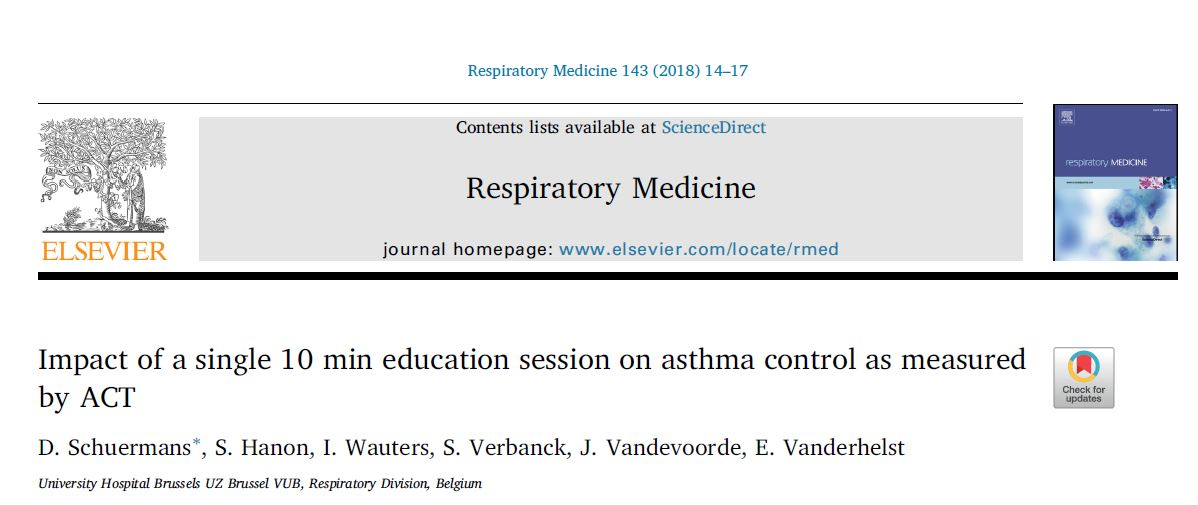 Impact of a single 10 min education session on asthma control as measured by ACT